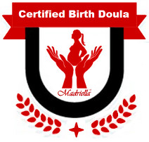 Certified birth doula badge